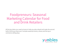 Seasonal Marketing Calendar Food and Drink Retailers